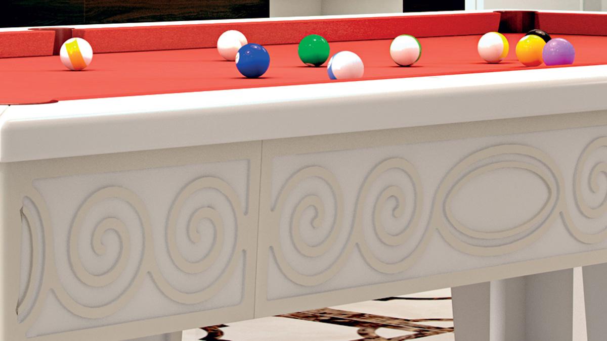 Biliardo design Fenice per uno stile esclusivo e originale