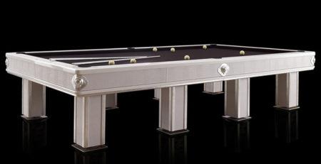 Tavolo biliardo moderno Bellagio con rifiniture in pelle