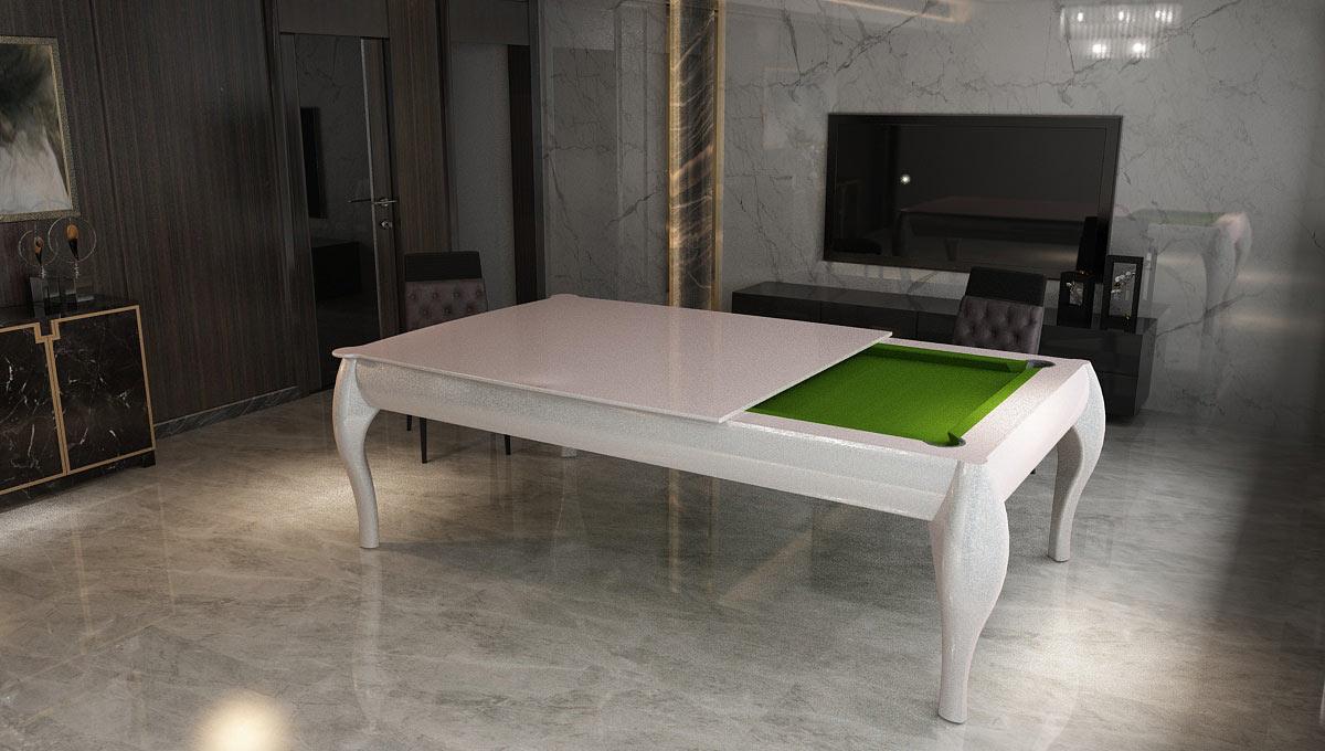 Biliardo tavolo da pranzo Atene per arredamenti contemporanei