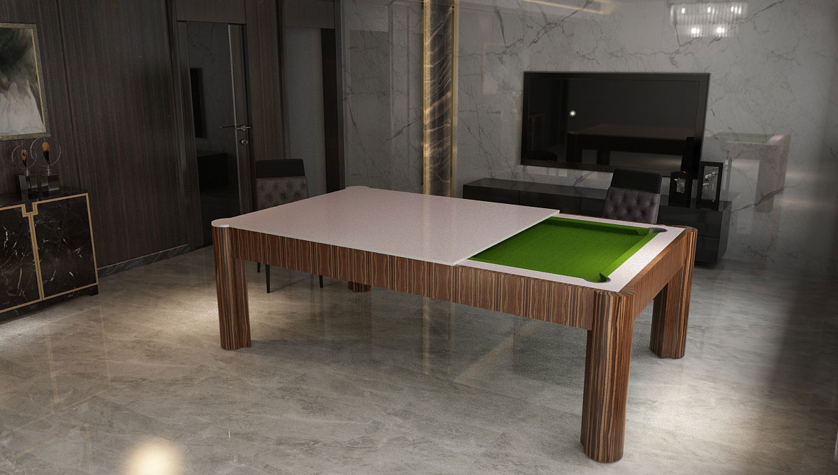 Tavolo biliardo con copertura Londra dal design raffinato