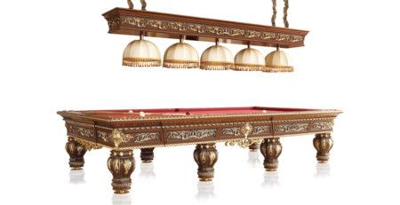Tavolo biliardo classico Dragone dal carattere pregiato ed elegante