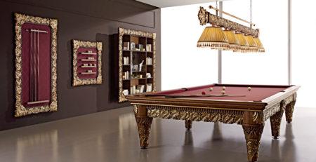 Tavolo biliardo tradizionale olga per arredamenti di prestigio