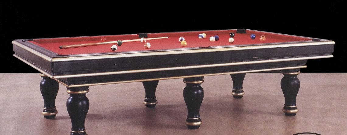 Tavolo biliardo classico Porto Antico laccato e rifinito in oro