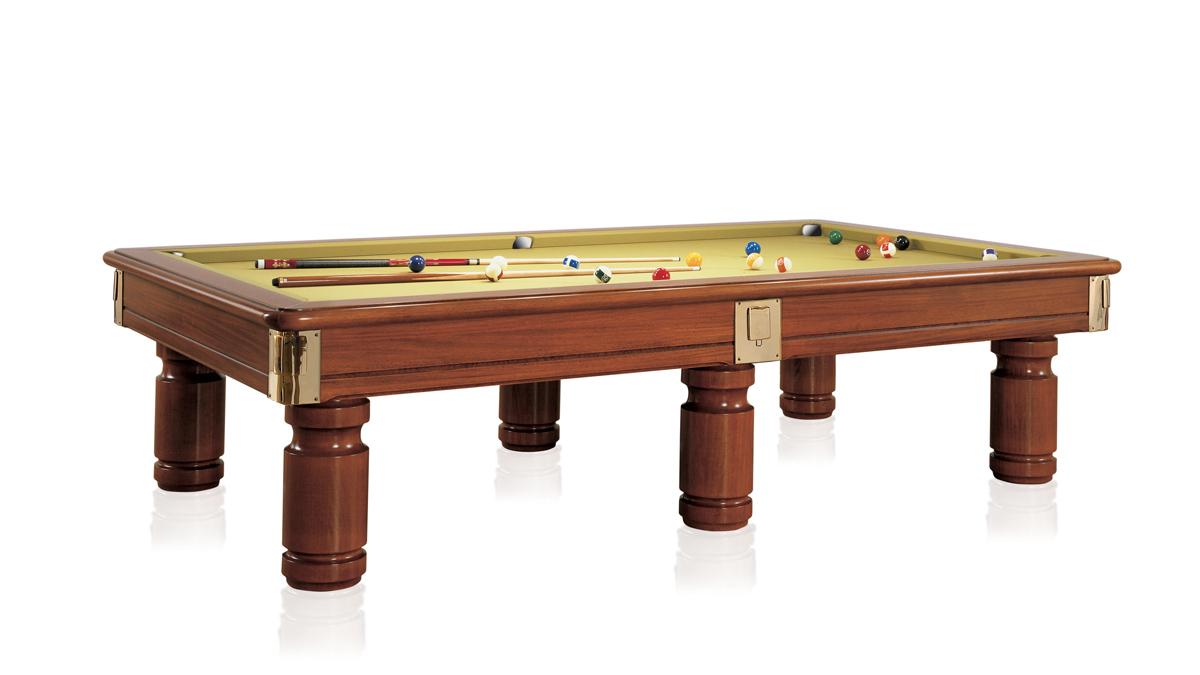 Tavolo Biliardo classico Toledo realizzato in legno pregiato