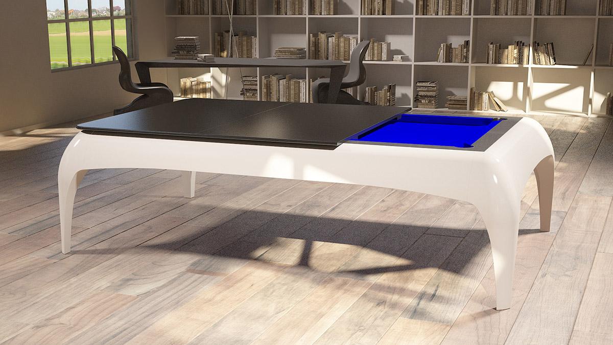 Biliardo Tavolo da pranzo Silhouette per ambienti moderni