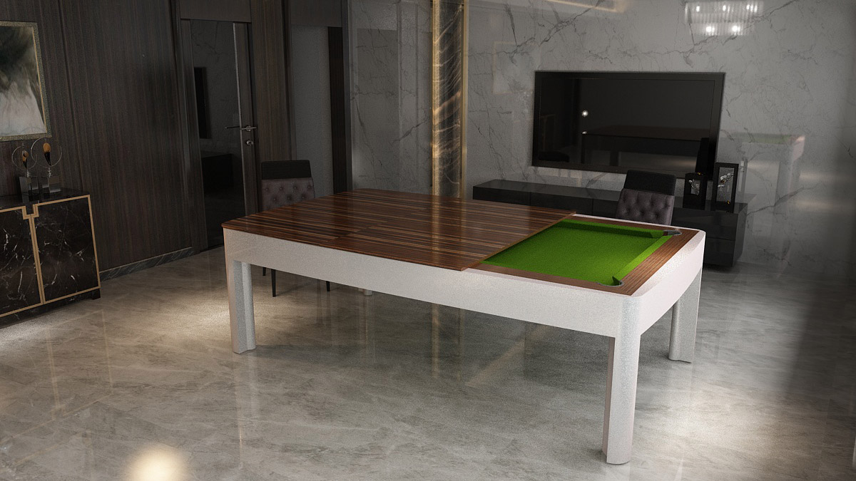 Tavolo Biliardo convertibile Montecarlo dal carattere moderno