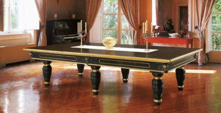 Tavolo Biliardo incorporato Duccio con decorazioni anticate