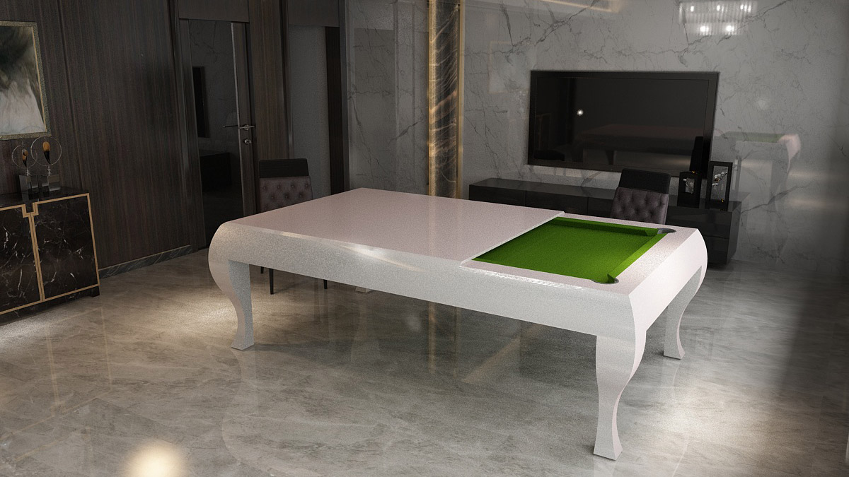Tavolo Biliardo con copertura Torino per un arredamento elegante